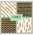 Set of 4 hand drawn seamless trendy patterns with vector image vector image