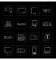 Hi-tech equipment icons vector image vector image