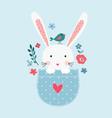 bunny girl vector image