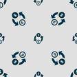 Currency exchange icon sign Seamless pattern with vector image