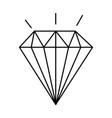 diamond elegant isolated icon vector image