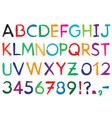 Font Alphabet vector image