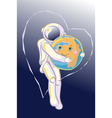 Hug in Space vector image