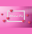 paper art of valentine day background vector image