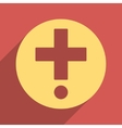 Pharmacy Flat Longshadow Square Icon vector image
