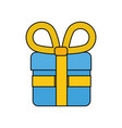 shopping gift symbol vector image