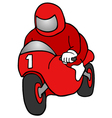 winner motorcycle vector image