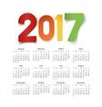 Calendar for a year 2017 vector image