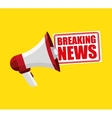 breaking news concept icon vector image