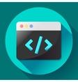 Coding icon flat program app vector image