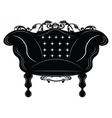 Baroque Imperial armchair vector image