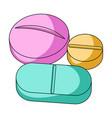 medicinal tabletsmedicine single icon in cartoon vector image