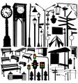 city objects and accessories vector image vector image