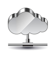 Cloud computing isolated on white vector image vector image