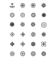 Flowers and Floral Line Icons 2 vector image
