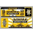 Circus ticket birthday card mockup vector image vector image