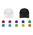 baseball cap set vector image