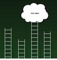 cloud on ladder set on green background vector image