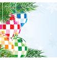 Disco balls Christmas ornaments vector image