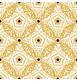 Seamless pattern with gold ethnic ornament vector image