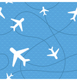 Seamless pattern with plane icons vector image
