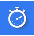 timer icon isolated white on the blue background vector image