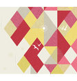 Retro Geometric Background with birds vector image vector image
