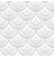White paper circles seamless pattern vector image vector image