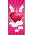 flying hearts vector image vector image
