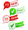 New and free tags vector image