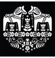 Swedish Dala or Daleclarian horse floral pattern vector image