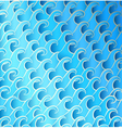 wavy turquoise pattern vector image vector image