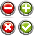Colored buttons with yes and no vector image vector image