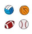 color diferents plays balls icon vector image