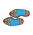flip flop sandals beach blue and pink vector image