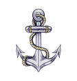 Hand drawn elegant ship sea anchor with rope vector image