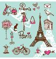 Paris symbols vector image