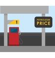 Petroleum price design vector image