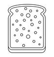 slice of white bread icon outline vector image