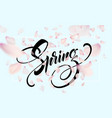 spring lettering web banner template color pink vector image