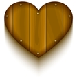 Wooden heart symbol of love vector image