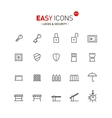 Easy icons 01a Security vector image