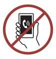 sign of do not phone vector image