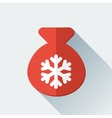 Simple Santa bag icon in flat style vector image