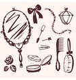set things for beauty vector image