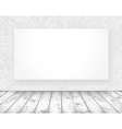 new media banner in a old room vector image vector image