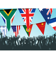 world flag bunting vector image vector image
