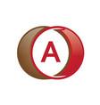 a letter circle logo vector image
