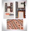 Ancient Business card design LETTER H vector image