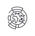 global diagrams line icon sig vector image